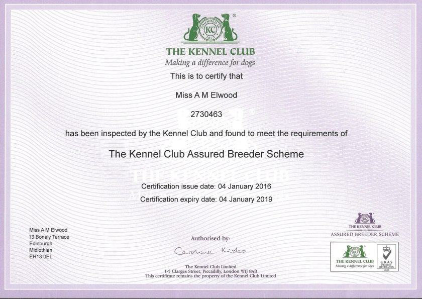 Kennel Club Assured Breeder